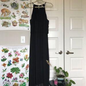 Black Maxi Dress, Halter Top